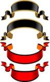 Etiqueta preta e vermelha Imagens de Stock