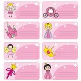 Etiqueta princesas Foto de Stock Royalty Free