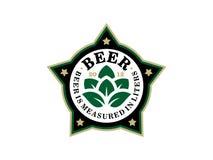 Etiqueta profissional moderna para uma cerveja do ofício Fotografia de Stock Royalty Free