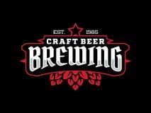 Etiqueta profissional moderna para uma cerveja do ofício Imagem de Stock Royalty Free