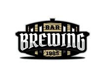 Etiqueta profissional moderna para uma cerveja do ofício Imagens de Stock
