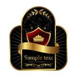 Etiqueta real dourada Fotografia de Stock