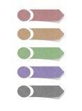 A etiqueta recicl o ofício de papel para faz a vara da nota Imagem de Stock Royalty Free