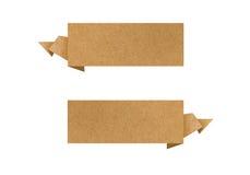 A etiqueta recicl o ofício de papel para faz a vara da nota Imagens de Stock
