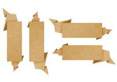 A etiqueta recicl o ofício de papel para faz a vara da nota Fotos de Stock