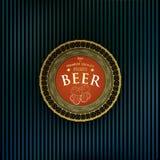 Etiqueta redonda da cerveja Fotografia de Stock