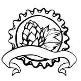 Etiqueta redonda del descuento con la cápsula y los saltos del metal Imagen de archivo