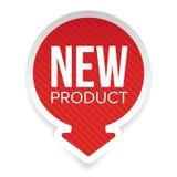 Etiqueta redonda do produto novo ilustração stock