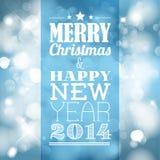 Etiqueta retra de la Navidad del vintage del vector stock de ilustración