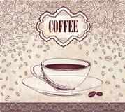 Etiqueta retra del café. Paquete del ejemplo del vector. libre illustration
