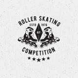 Etiqueta retra del patinaje sobre ruedas del vintage Imagenes de archivo