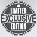 Etiqueta retra exclusiva de la edición limitada, vector Foto de archivo