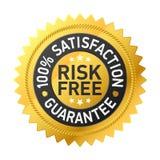 Etiqueta Risk-free da garantia Imagem de Stock Royalty Free