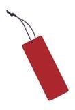 Etiqueta roja Imagen de archivo libre de regalías