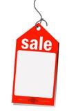 Etiqueta roja de la venta Fotos de archivo libres de regalías