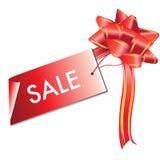 Etiqueta roja de la venta Fotografía de archivo libre de regalías