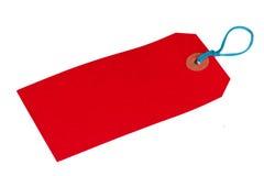 Etiqueta roja del equipaje Fotos de archivo