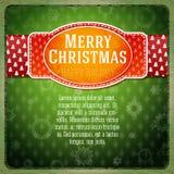 Etiqueta roja estilizada vintage de la Feliz Navidad, Fotos de archivo