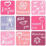 Etiqueta romântica Foto de Stock