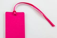 Etiqueta rosada Fotos de archivo libres de regalías