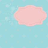 Etiqueta rosada en el azul libre illustration
