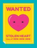 Etiqueta roubada do coração Imagem de Stock