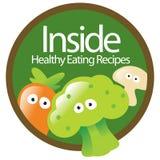 Etiqueta saudável comer Fotos de Stock