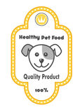 Etiqueta saudável dos alimentos para animais de estimação ilustração do vetor