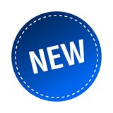 Etiqueta/selo novos ilustração stock