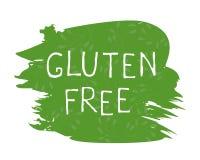 Etiqueta sem glúten do alimento e crachás de alta qualidade do produto Bio Ecohealthy orgânico, 100 bio e ícone do produto natura ilustração stock