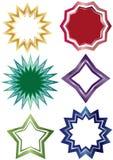 Etiqueta Set_eps da forma das estrelas Imagens de Stock Royalty Free