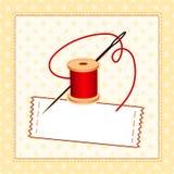 etiqueta Sewing de +EPS. Adicione seu próprio texto. Fotografia de Stock