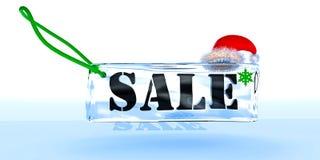 Etiqueta sobre a venda de ano novo Imagem de Stock