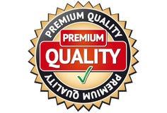 Etiqueta superior da qualidade ilustração stock