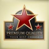 Etiqueta superior da qualidade Fotografia de Stock Royalty Free