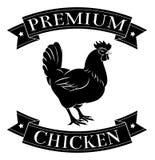 Etiqueta superior del pollo Fotos de archivo