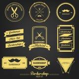Etiqueta superior del vintage de la barbería Foto de archivo libre de regalías