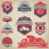 Etiqueta superior del vintage de la motocicleta Imagen de archivo libre de regalías