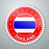 Etiqueta tailandesa de la bandera ilustración del vector