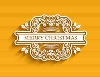 Etiqueta tipográfica de la Navidad libre illustration