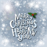 Etiqueta tipográfica de la Navidad por desig de los días de fiesta de Navidad y del Año Nuevo Fotos de archivo libres de regalías