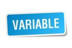 etiqueta variável ilustração do vetor
