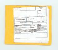 etiqueta vazia da declaração alfandegária fotos de stock