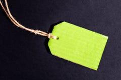 Etiqueta vazia da etiqueta de preço com desconto Grunge preto em Backgrou Textured fotografia de stock royalty free