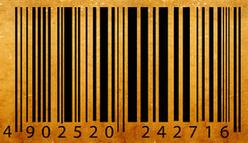 Etiqueta velha do código de barra Imagens de Stock