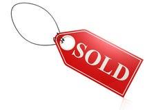 Etiqueta vendida stock de ilustración