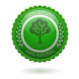 Etiqueta verde ilustração stock