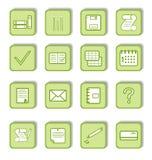 Etiqueta verde com ícone 9 Foto de Stock