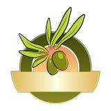 Etiqueta verde-oliva ilustração stock