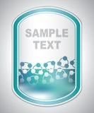 Etiqueta verdosa abstracta del laboratorio Imagen de archivo libre de regalías
